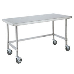 Metro Shelves USA Metro Work Table Quot X Quot HD - Stainless steel open base work table